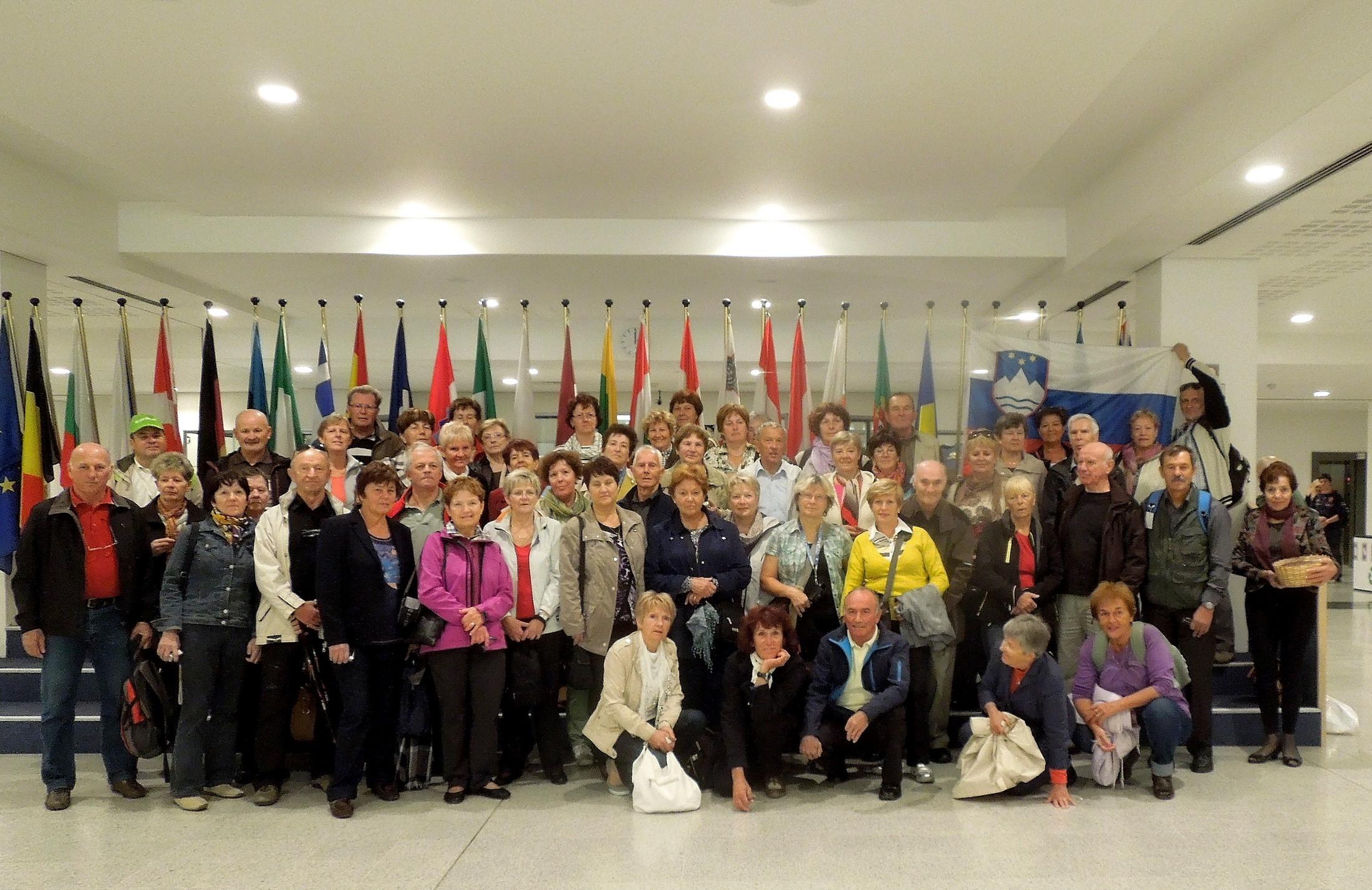 Upokojenci iz Škofje Loke v Bruslju